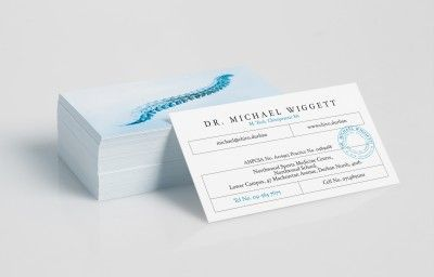 CHIROPRACTIC BUSINESS CARDS PREVIEW