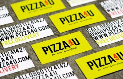 PIZZA 4 U BUSINESS CARDS PREVIEW