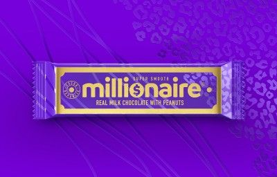 Millionaire Chocolate Packaging  Front of pack